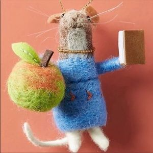 Anthropologie Miss Bumbles Mouse Felted Ornament
